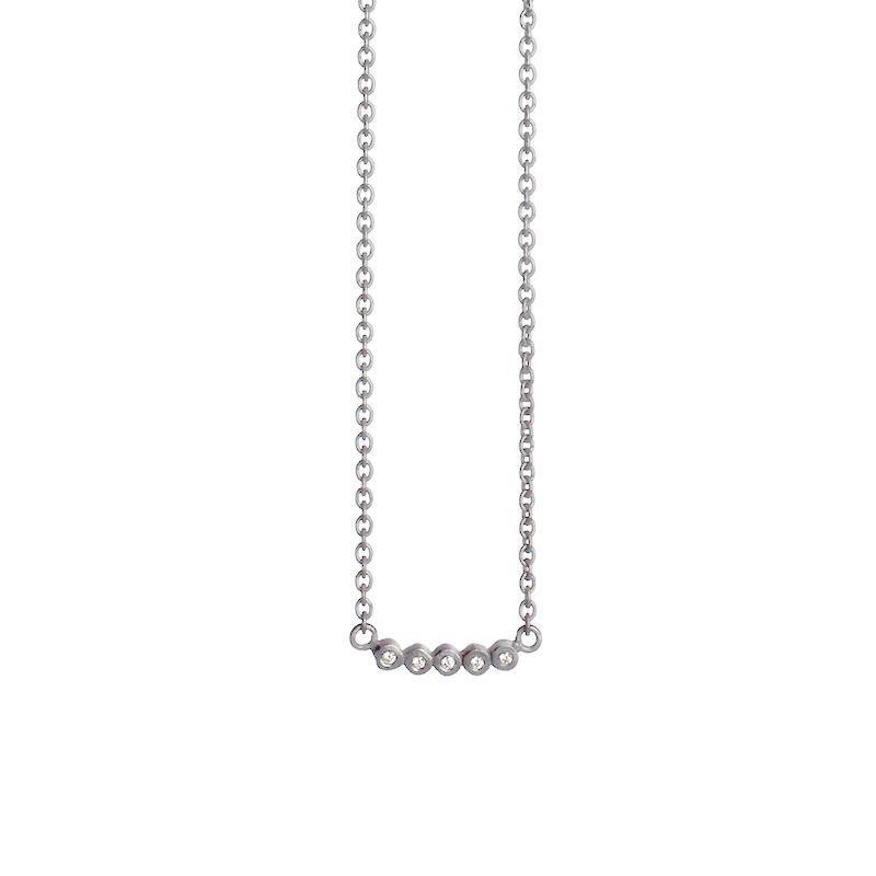 Image of   Guldsmed ø 2014 halssmykke i sølv med diamanter