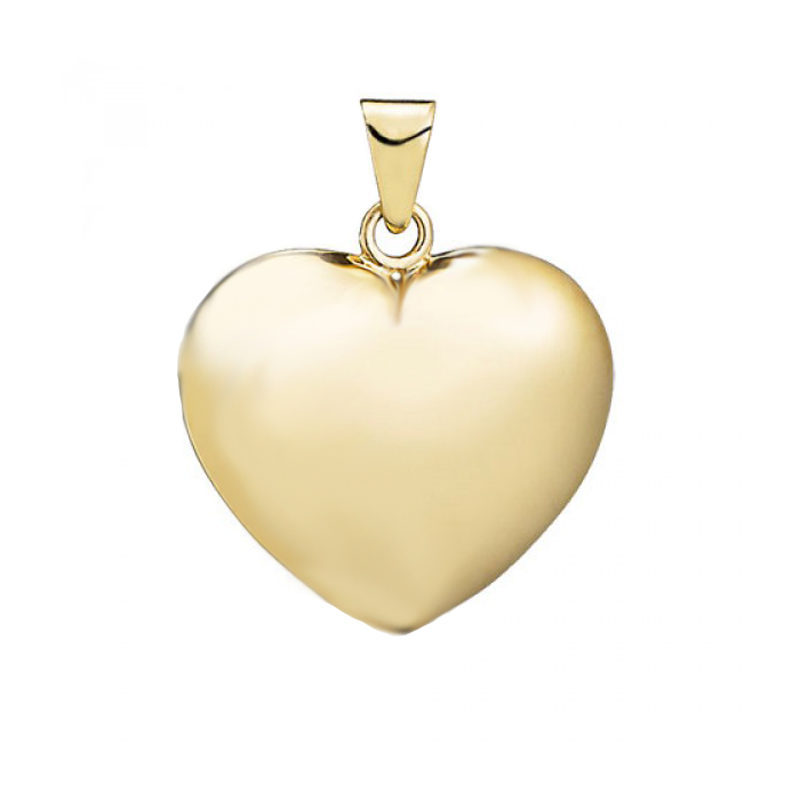 Hjerte vedhæng, 14 kt. guld 15x16 mm