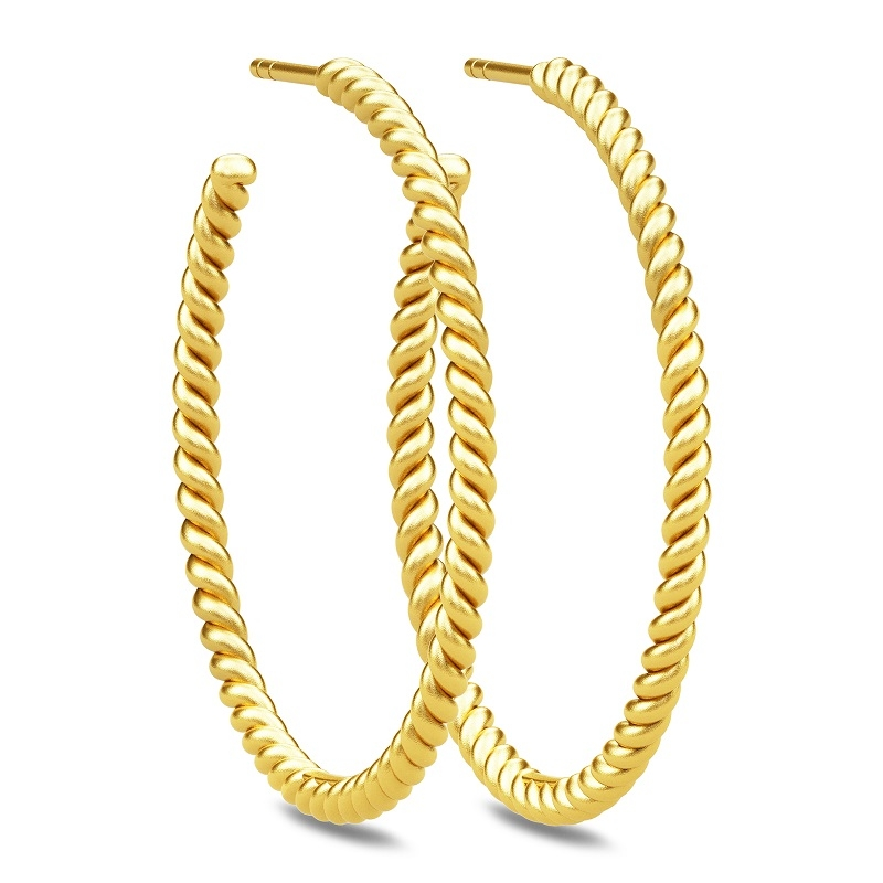 Image of   Julie Sandlau twisted hoops i forgyldt Ø 35 mm