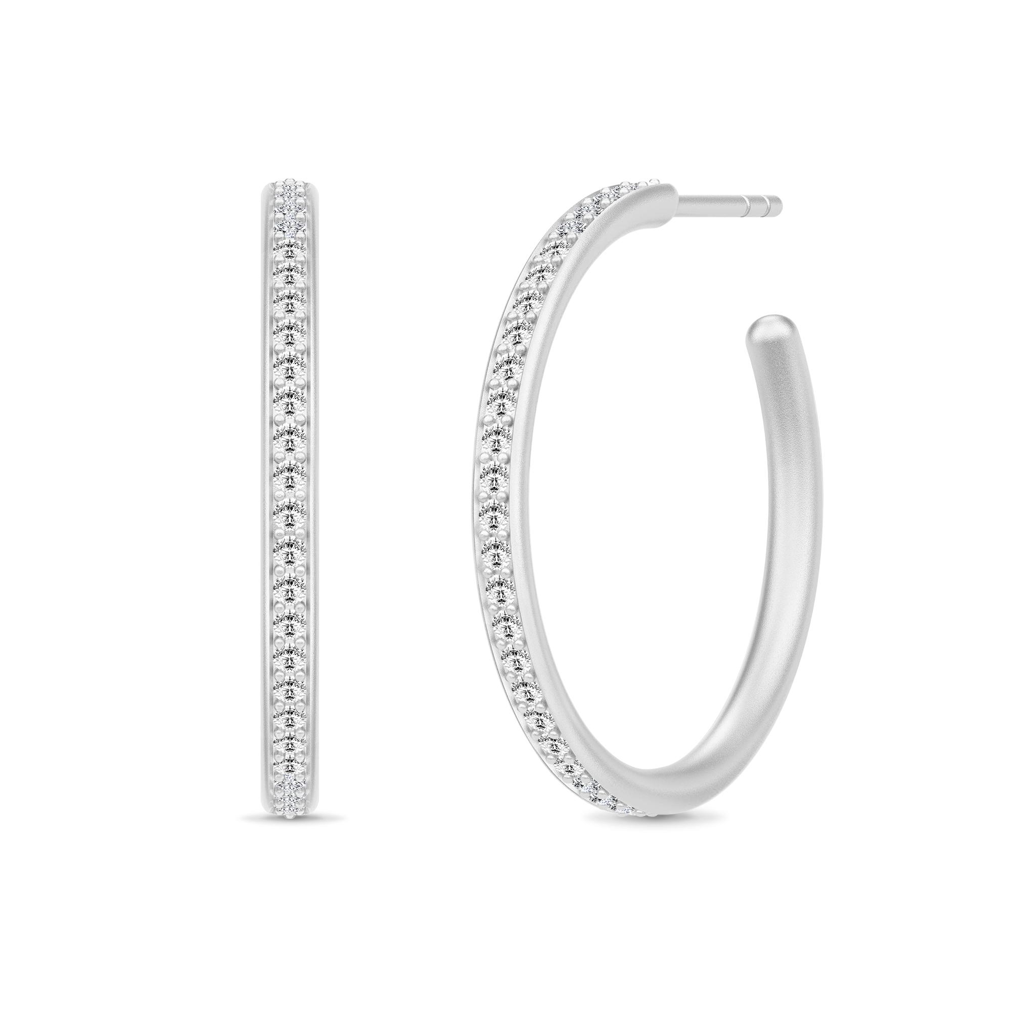 Image of   Julie Sandlau Infinity Hoops øreringe i sølv med cz