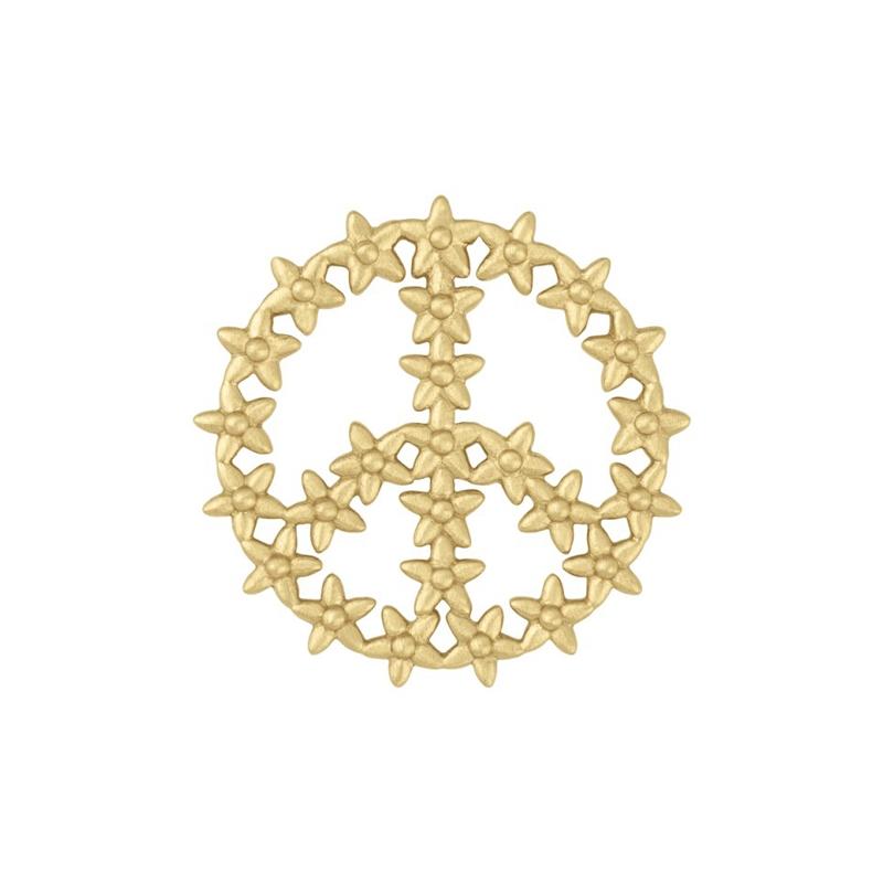 ByBiehl Imagine peace forgyldt vedhæng