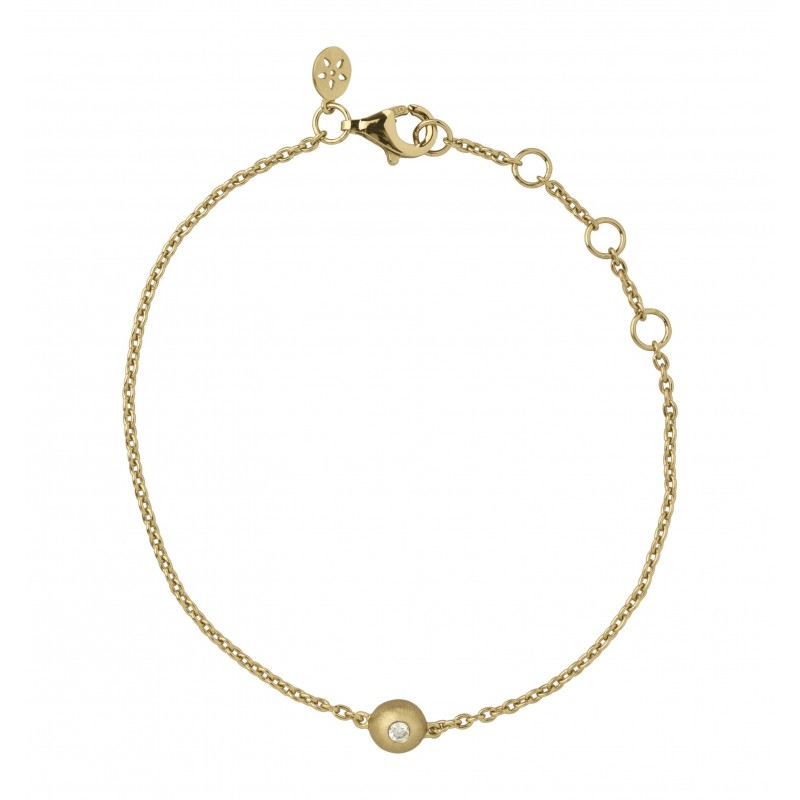 ByBiehl Iris armbånd med vedhæng, guld med 0,03 ct. diamant