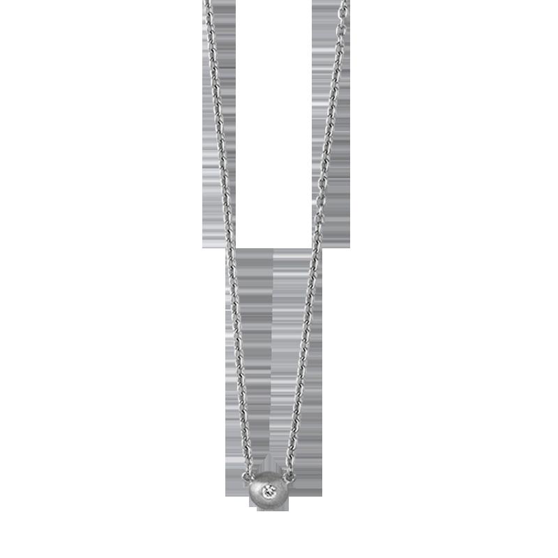 ByBiehl Iris halskæde med vedhæng, sølv med 0,03 ct. diamant