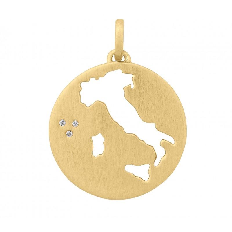Image of   ByBiehl Beautiful Italien Vedhæng i forgyldt med CZ