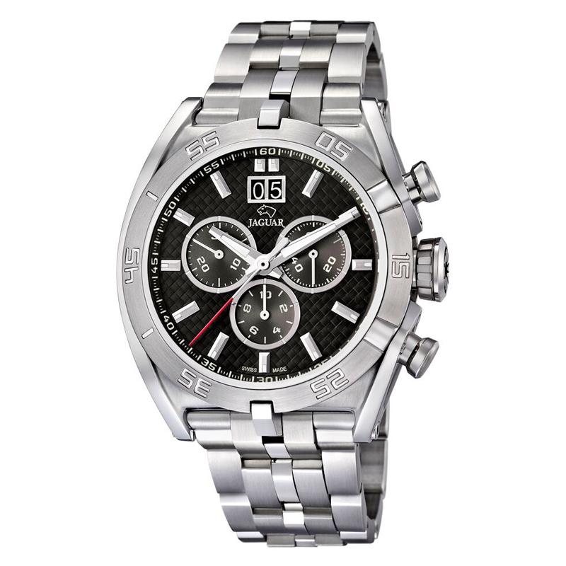Image of   JAGUAR Special Edition 2011 chrono armbåndsur i stål med sort skive