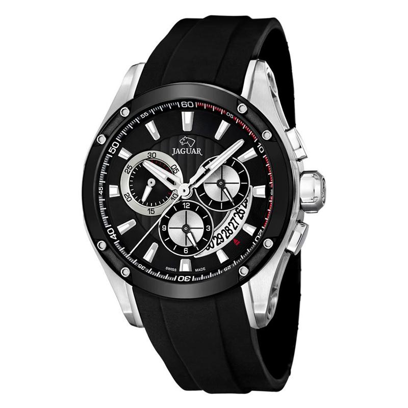 Image of   JAGUAR Special Edition chrono armbåndsur i stål med sort skive