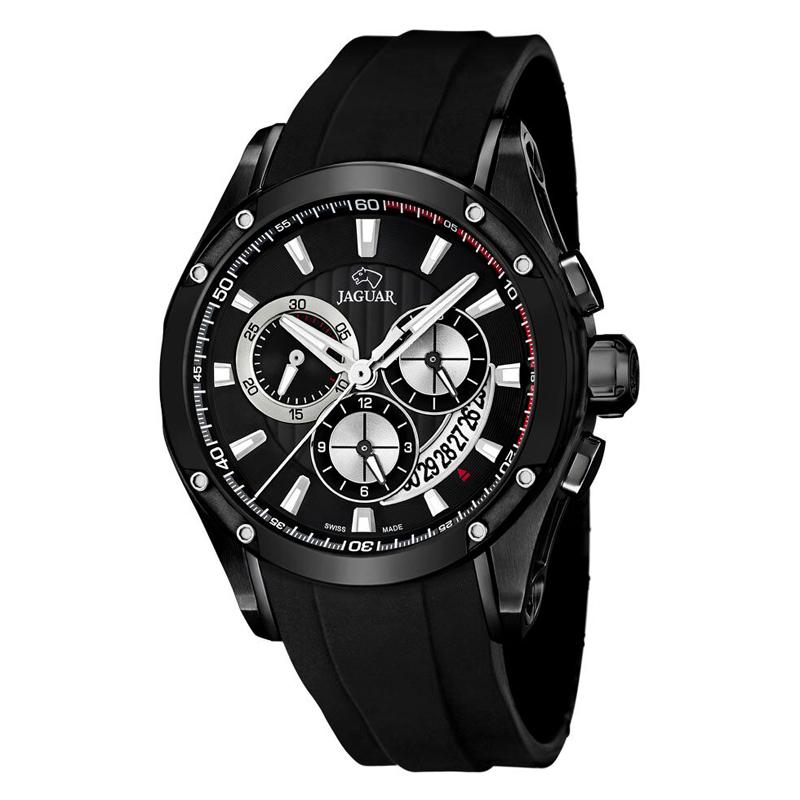 JAGUAR Special Edition chrono armbåndsur i sort stål med sort skive thumbnail