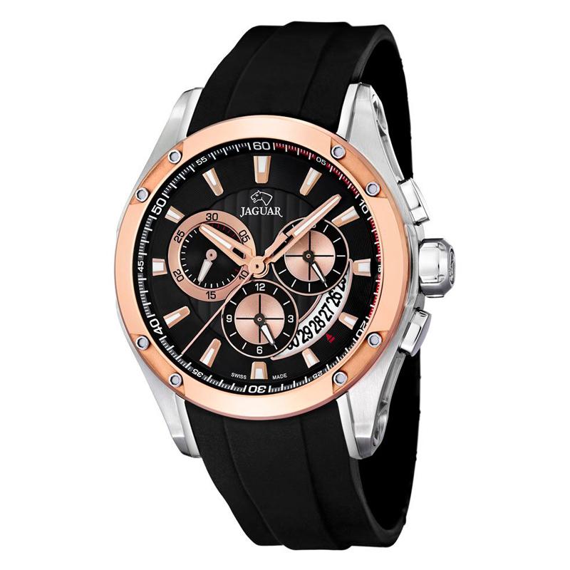 Image of   JAGUAR Special Edition chrono armbåndsur i rosa/stål med sort skive