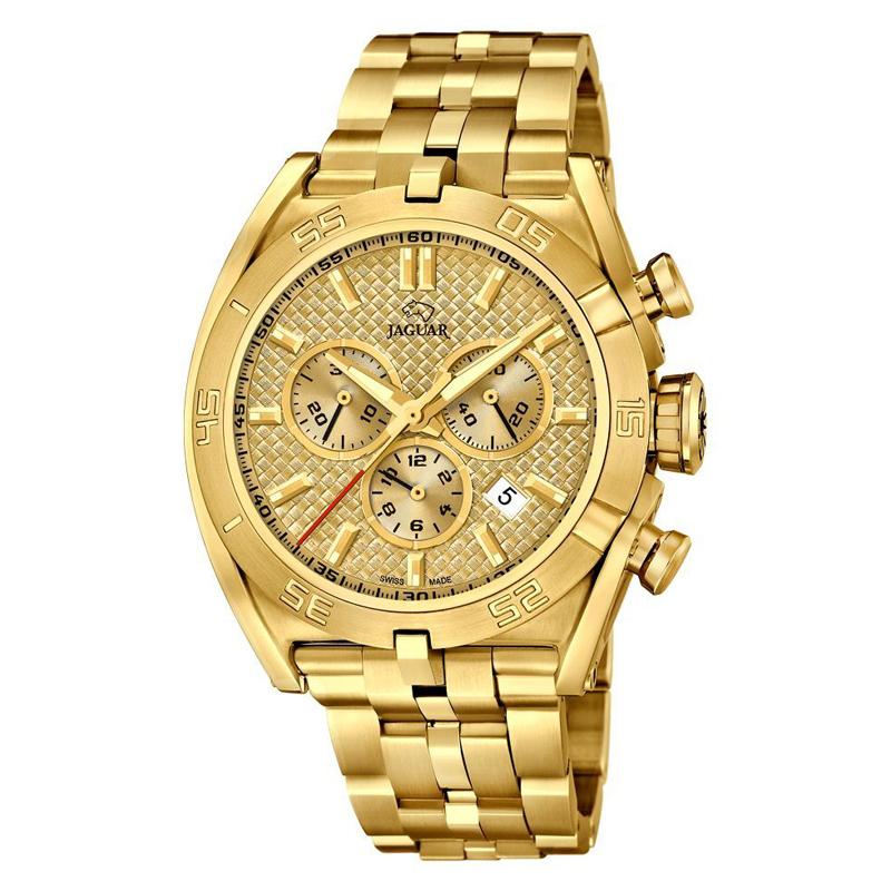 Image of   JAGUAR Special Edition 2017 chrono armbåndsur i guldfarvet stål med guldfarvet skive
