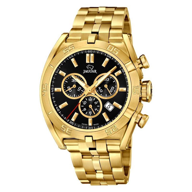 JAGUAR Special Edition 2017 chrono armbåndsur i guldfarvet stål med sort skive thumbnail