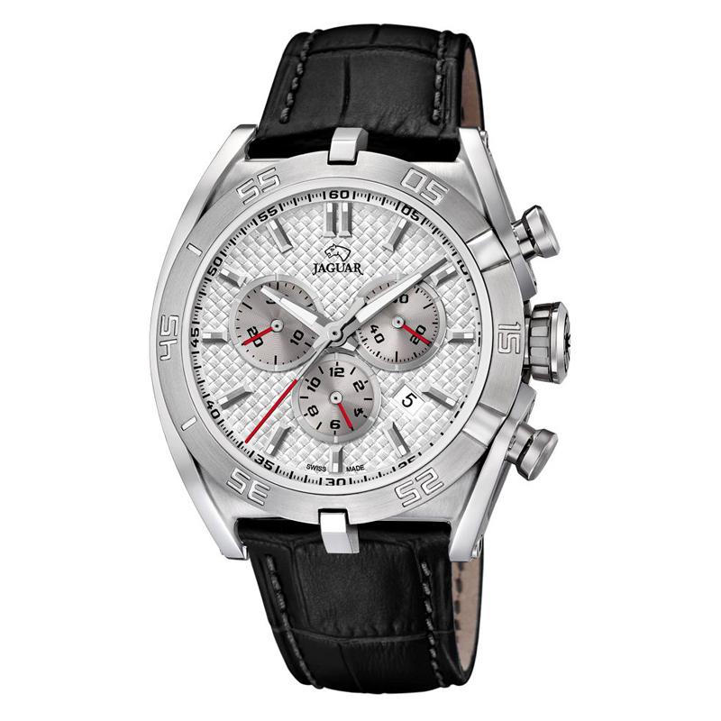 JAGUAR Special Edition 2017 chrono armbåndsur i stål med hvid skive og sort rem thumbnail