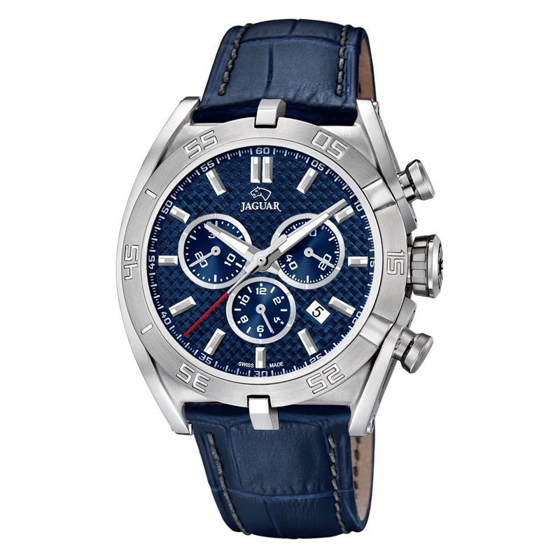 JAGUAR Special Edition 2017 chrono armbåndsur i stål med blå skive og blå rem thumbnail