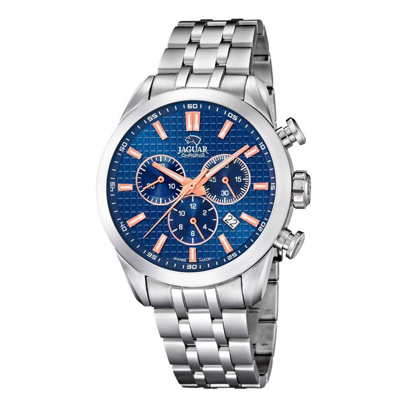 Image of   JAGUAR ACAMAR chrono armbåndsur i stål med blå skive