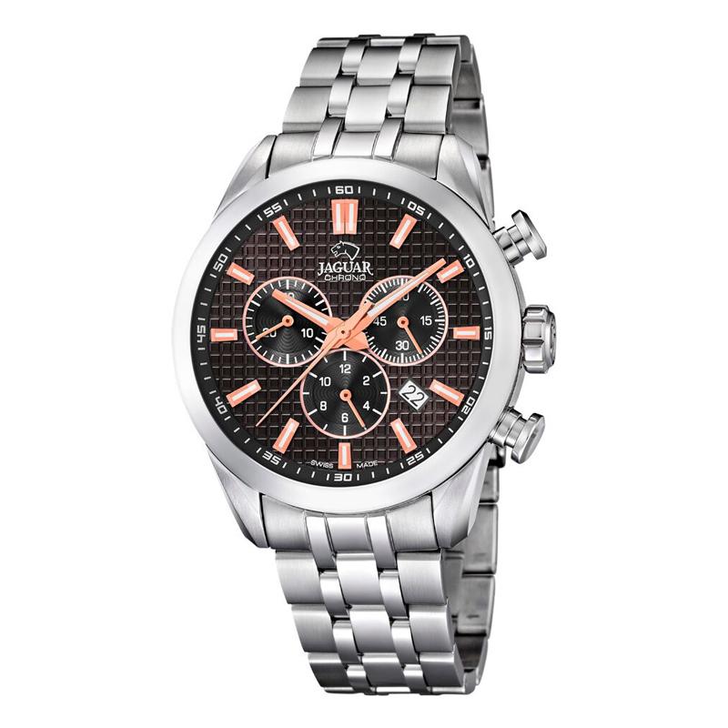 Image of   JAGUAR ACAMAR chrono armbåndsur i stål med sort skive