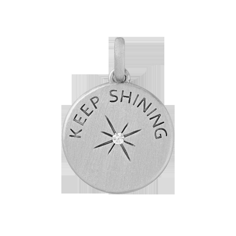 ByBiehl Keep Shining sølv vedhæng med diamant
