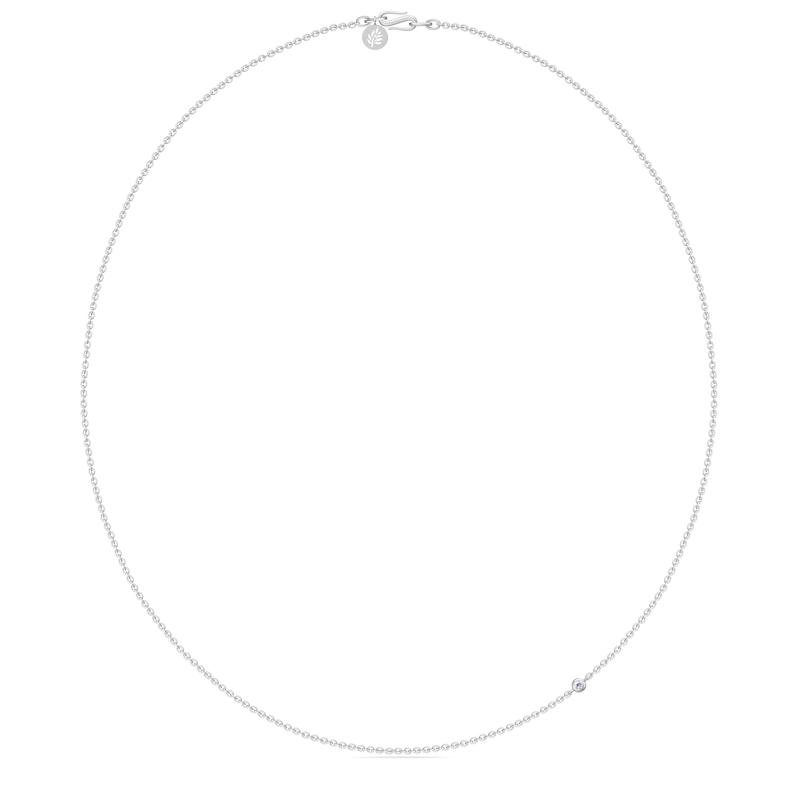 Image of   Julie Sandlau 45 cm halskæde i sølv med cz