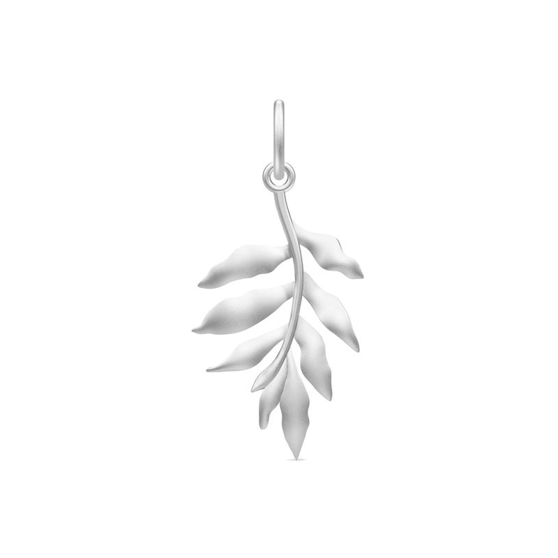 Julie Sandlau Classic vedhæng blad rhodineret sølv