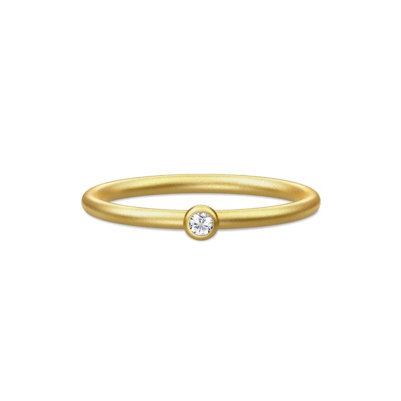 Julie Sandlau Finesse ring forgyldt med cubic zirkonia