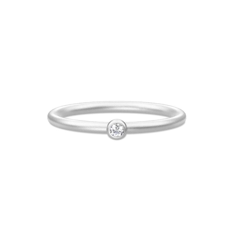 Julie Sandlau Finesse ring rhodineret sølv med cubic zirkonia