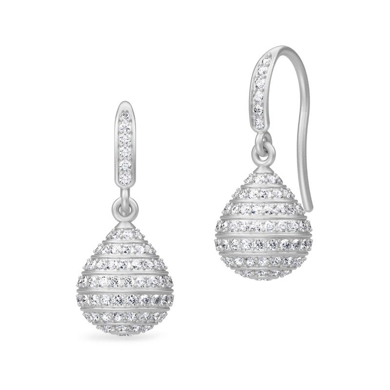Julie Sandlau Summit Everst ørehænger rhodineret sølv