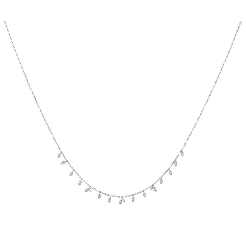 Image of   ByBiehl Jungle Vine sølv halskæde med zirkoner