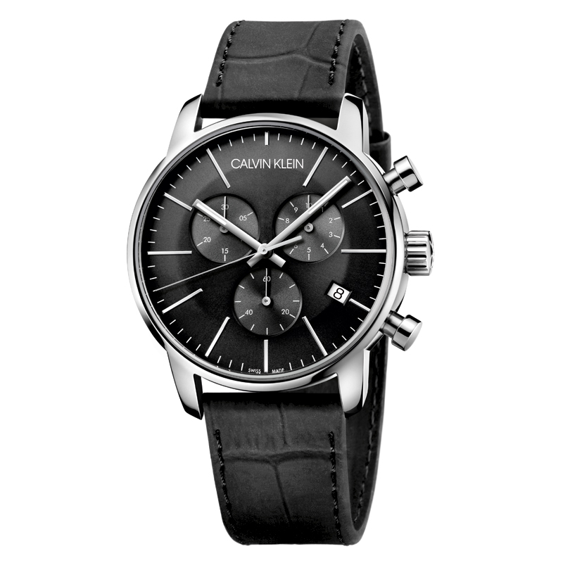 Image of   Calvin Klein City Chrono Stål/læder