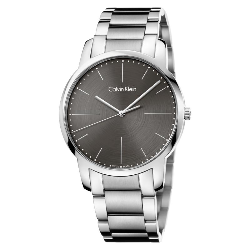 Image of   Calvin Klein City armbåndsur i stål med metalgrå skive