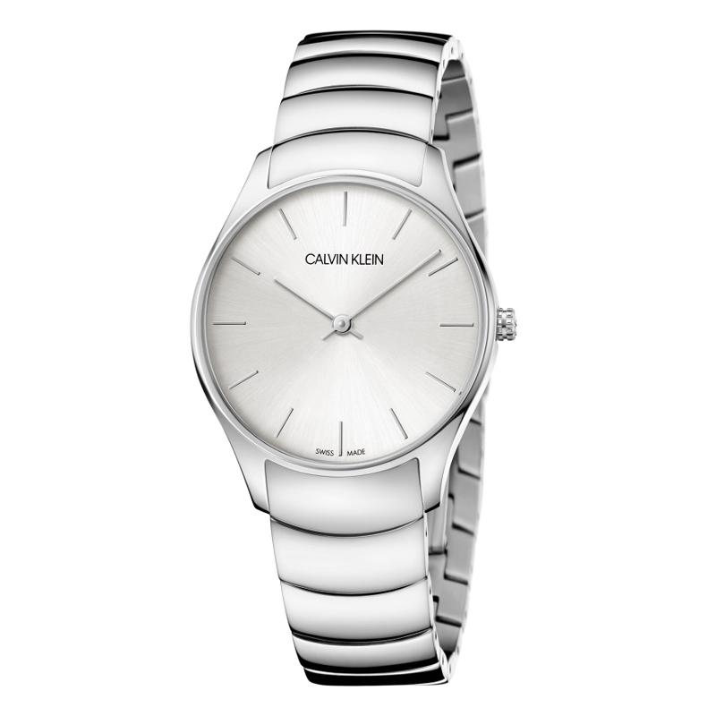 Image of   Calvin Klein - CK Classic Too ur i stål med lænke