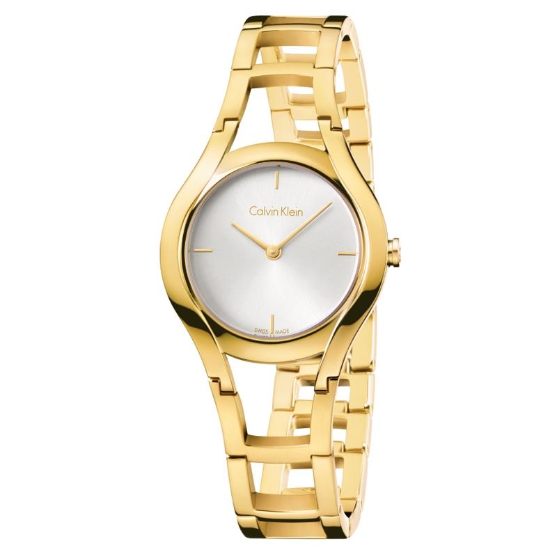 Calvin Klein - CK Class armbåndsur i forgyldt stål med hvid skive