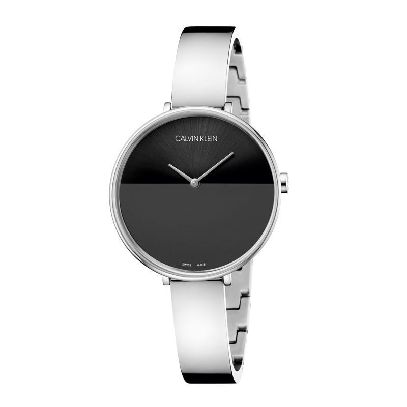 Image of   Calvin Klein - CK Rise dameur, stål med sort skive
