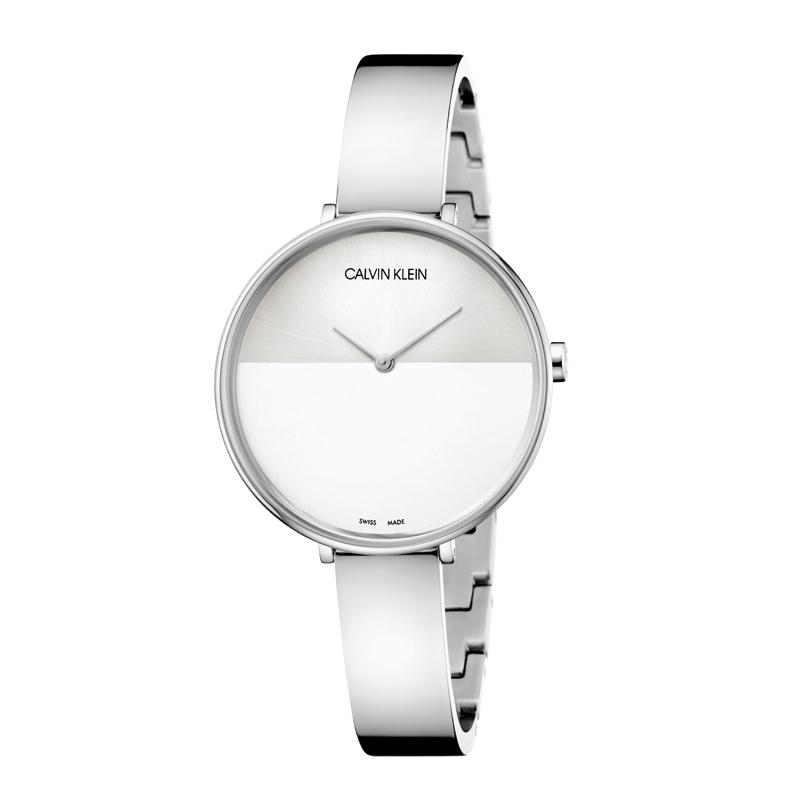 Image of   Calvin Klein - CK Rise dameur, stål med sølvgrå skive