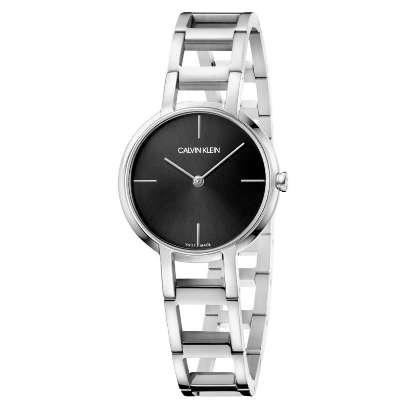 Image of   Calvin Klein Cheers armbåndsur i stål med sort skive