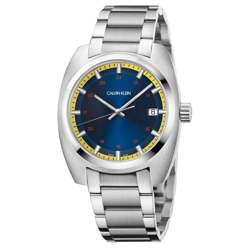 Image of   Calvin Klein Achieve armbåndsur i stål med blå skive