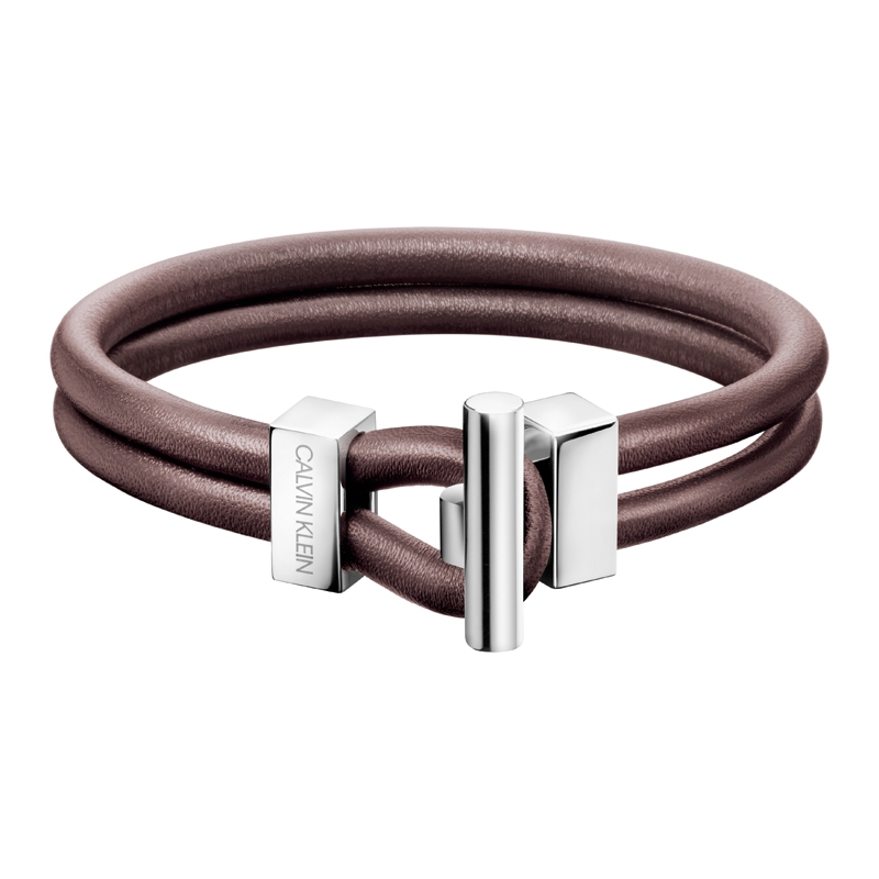 Calvin Klein Anchor brun læder armbånd