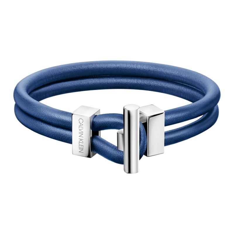 Calvin Klein Anchor blå læder armbånd