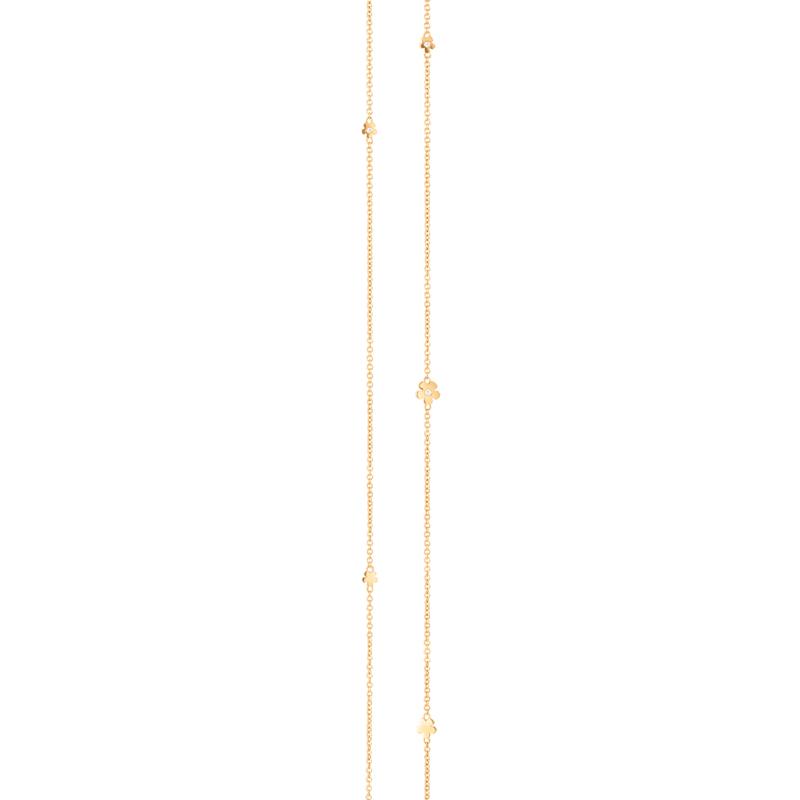 Image of   Ole Lynggaard Lace lang kæde i guld med brillanter, 80 cm
