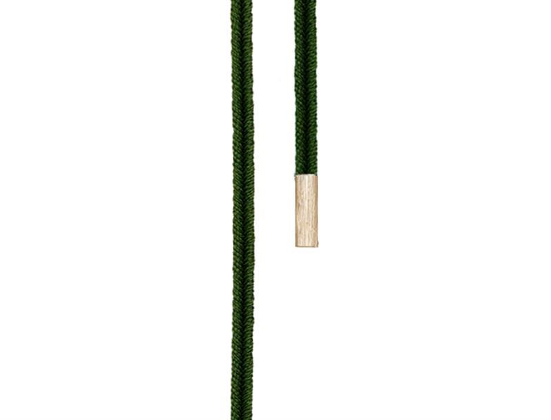 Image of   Ole Lynggaard Dobbelt design snor mørk grøn endestykker 18 karat rødguld længde 130 cm