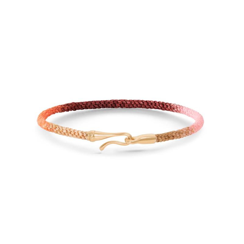 Ole Lynggaard Life armbånd i rosa med guld krog-19 cm