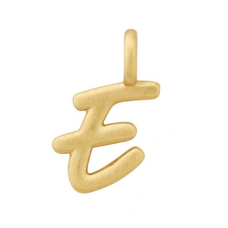 Image of   ByBiehl Love Letter bogstavsvedhæng E i forgyldt