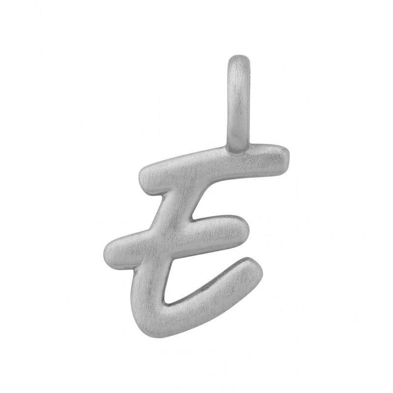 ByBiehl Love Letter bogstavsvedhæng E i sølv