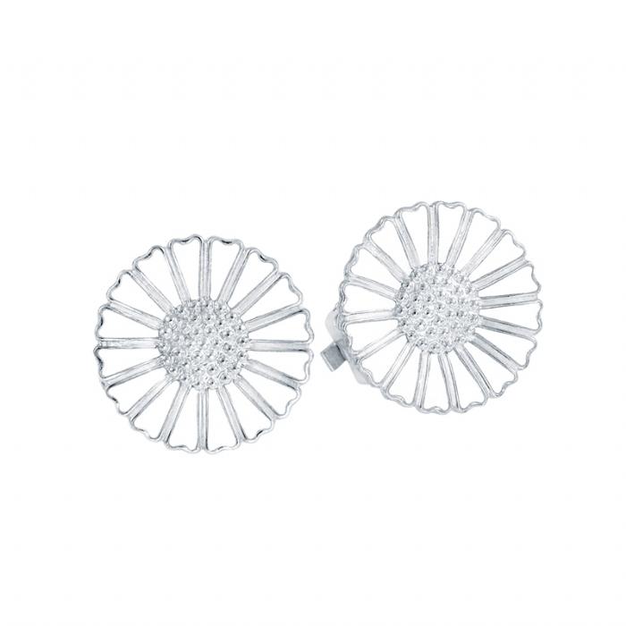 Lund Marguerit øreclips Sølv 18 mm