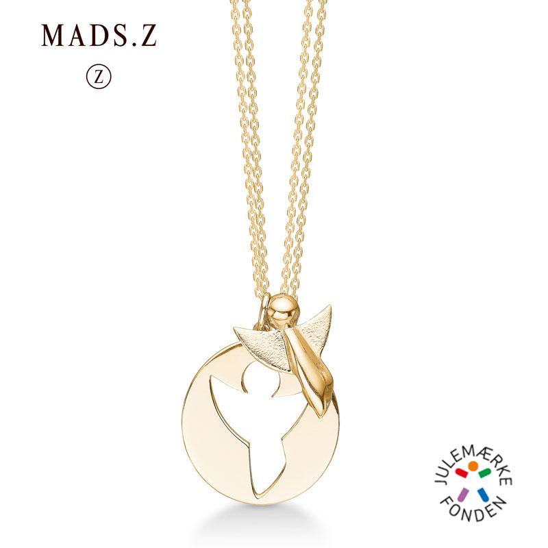 Image of   Mads Z Me and My Angel i forgyldt, 2 halskæder og 2 engle vedhæng
