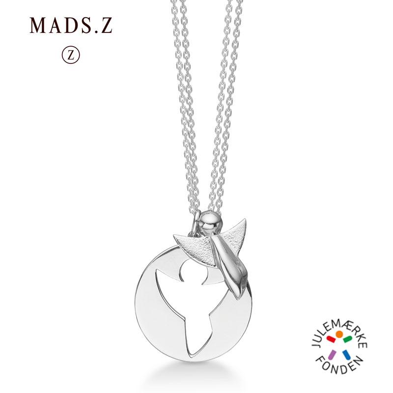Billede af Mads Z Me and My Angel i sølv, 2 halskæder og 2 engle vedhæng