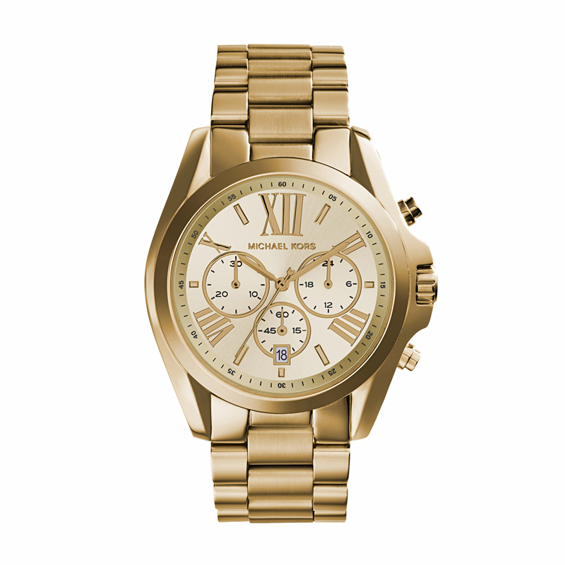 Image of   Michael Kors Bradshaw dameur i forgyldt med chronograph 44 mm