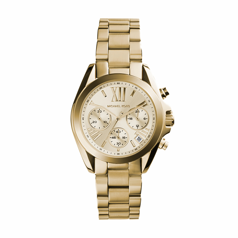 Image of   Michael Kors Mini Bradshaw dameur i forgyldt med chronograph 38 mm