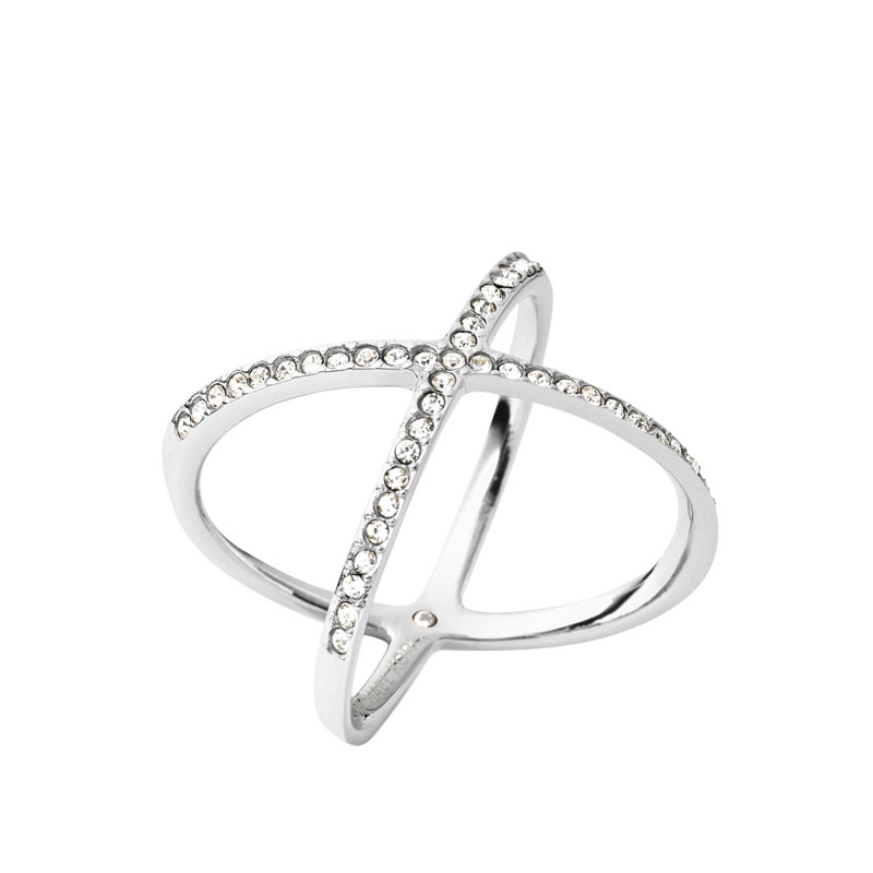 Michael Kors Brilliance ring i stål med krystaller