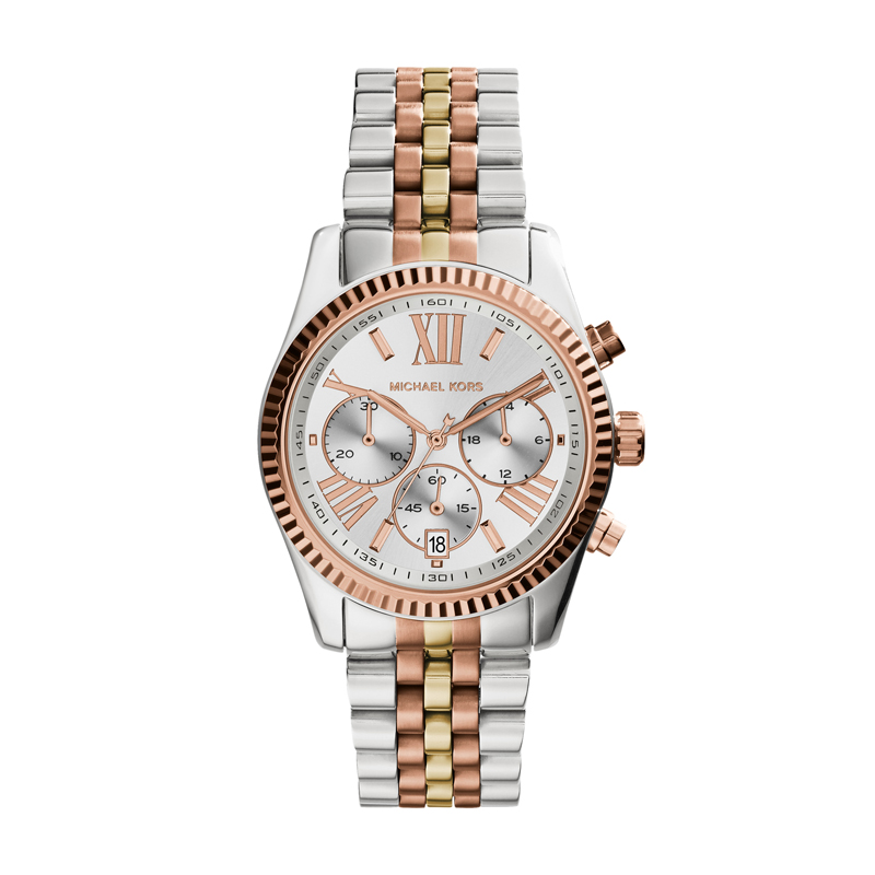 Image of   Michael Kors Lexington dameur i bicolour og med chronograph 38 mm