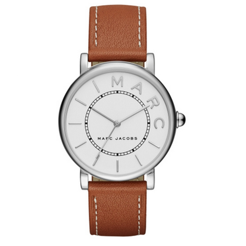 Marc Jacobs Classic armbåndsur i stål med brun læderrem