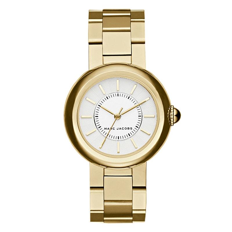Marc Jacobs Courtney armbåndsur i forgyldt med lænke