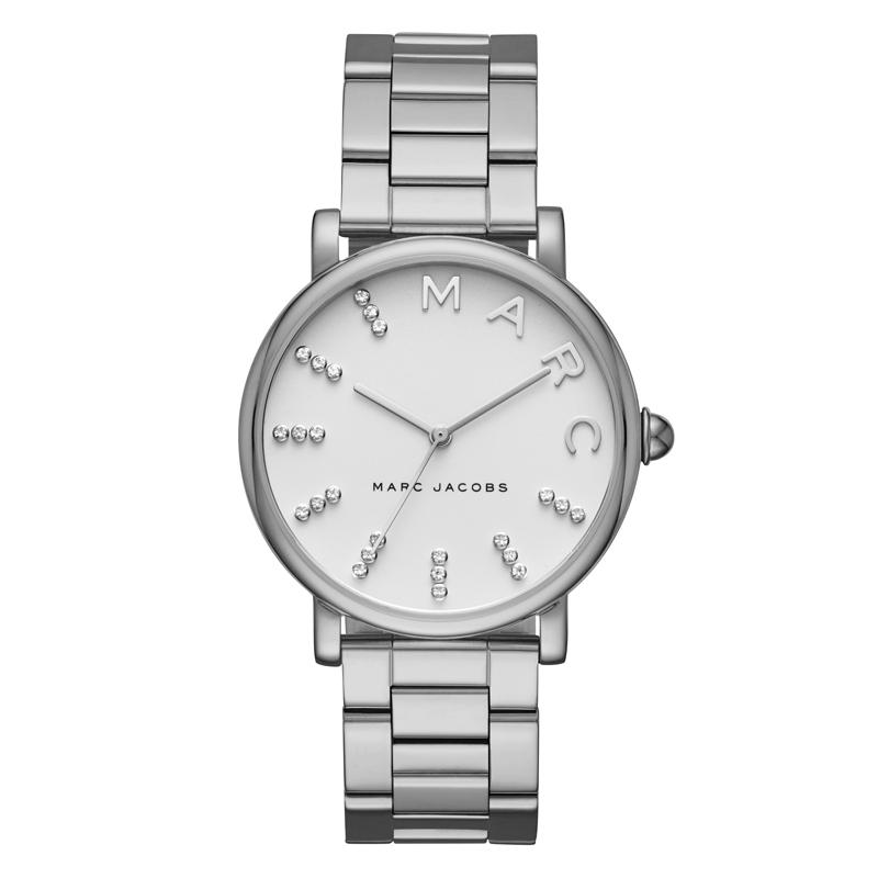 Marc Jacobs Classic armbåndsur i stål, med hvid skive og sten